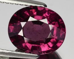3..94 Cts Natural Purple Pink Garnet Oval Cut Mozambique