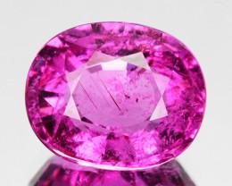 2.35 Cts Natural Rubelite Tourmaline Purplish Pink Oval Mozambique