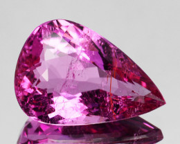 3.37 Cts Natural Sweet Pink Tourmaline Pear Cut Mozambique
