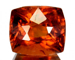 3.19 Cts Natural Hessonite Garnet Cinnamon Orange Cushion Cut Sri Lanka