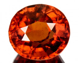 3.82 Cts Natural Hessonite Garnet Cinnamon Orange Oval Cut Sri Lanka