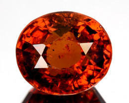 2.99 Cts Natural Hessonite Garnet Cinnamon Orange Oval Cut Sri Lanka