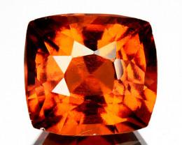 2.82 Cts Natural Hessonite Garnet Cinnamon Orange Cushion Cut Sri Lanka