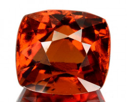 3.60  Cts Natural Hessonite Garnet Cinnamon Orange Cushion Cut Sri Lanka
