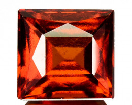 3.08 Cts Natural Hessonite Garnet Cinnamon Orange Square Cut Sri Lanka
