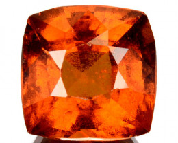 3.12 Cts Natural Hessonite Garnet Cinnamon Orange Cushion Cut Sri Lanka