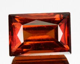 3.12 Cts Natural Hessonite Garnet Cinnamon Orange Baguette Cut Sri Lanka