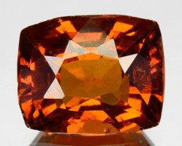 2.84 Cts Natural Hessonite Garnet Cinnamon Orange Cushion Cut Sri Lanka