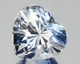~UNHEATED~ 1.31 Cts Natural Bi-Color Sapphire Heart Cut Sri Lanka ~LOVELY~