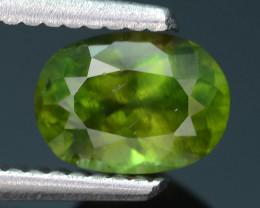Rare 1.26 ct Green Zircon Great Luster Unheated Cambodia SKU 2