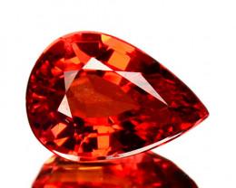 1.01 Cts Natural Orangesh Red Sapphire Songea Pear Cut Tanzania