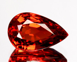 1.04 Cts Natural Orangesh Red Sapphire Songea Pear Cut Tanzania