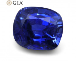 3.54 ct Blue Sapphire Cushion GIA Certified Unheated