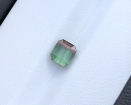 0.90 Ct Natural Bi Color Transparent Small Tourmaline Ring Size Gemstone