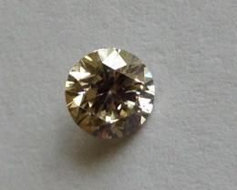 Natural Light Brown Diamond 0.45ct.