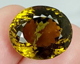 20.70Crt Olive Quartz  Best Grade Gemstones JI02