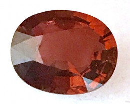 Bright Orangey Red Oval 3.6ct Tourmaline - G316