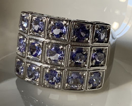 ⭐Glittering Tanzanite Sterling Silver ring Size 10 no reserve