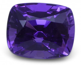 1.22 ct Purple Sapphire Cushion GIA Certified Unheated, Sri Lanka