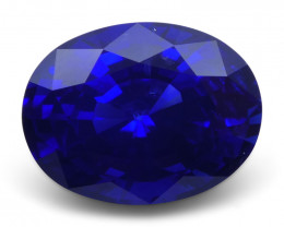 4.19 ct Deep /  Royal Blue Sapphire Oval GIA Certified Deep Blue, Sri Lanka