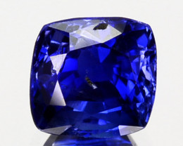 Cushion Cut Natural Royal Blue Sapphire 0.59 Cts Sri Lanka