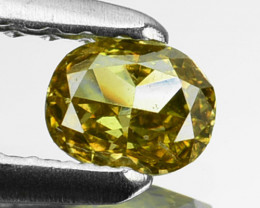 ~UNTREATED~ 0.20 Cts Natural Greenish Yellow Diamond Pear Africa