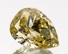 ~UNTREATED~ 0.22 Cts Natural Silver Yellow Diamond Pear Africa