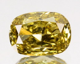 ~UNTREATED~ 0.27 Cts Natural Yellow Diamond Oval Africa