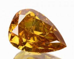 ~UNTREATED~ 0.30 Cts Natural Yellow Diamond Pear Africa