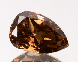 ~UNTREATED~ 0.34 Cts Natural Cognac Diamond Pear Africa