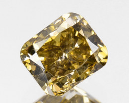 ~UNTREATED~ 0.35 Cts Natural Yellow Diamond Cushion Africa