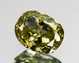 ~UNTREATED~ 0.19 Cts Natural Silver Yellow Diamond Oval Africa