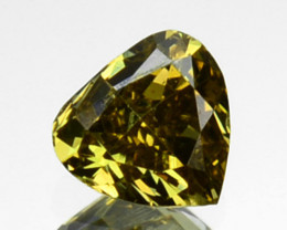 ~UNTREATED~ 0.16 Cts Natural Greenish Yellow Diamond Heart mix Africa