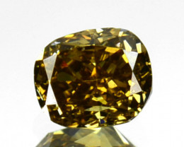 ~UNTREATED~ 0.21 Cts Natural Cognac Yellow Diamond Oval Africa