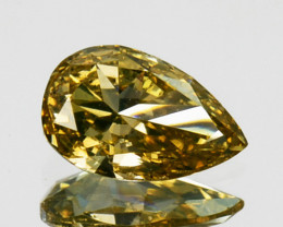 ~UNTREATED~ 0.22 Cts Natural Yellow Diamond Pear Africa