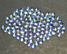 5.32Ct Natural Royal Blue Moonstone Round Cab 2mm