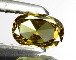 ~UNTREATED~ 0.16 Cts Natural Greenish Yellow Diamond Oval Africa