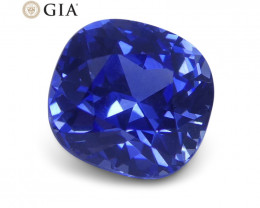 1.61 ct Blue Sapphire Cushion GIA Certified Sri Lanka