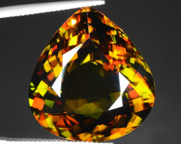 40.46 CT SPHENE WITH DRAMATIC FIRE WITH TOP LUSTER GEMSTONE