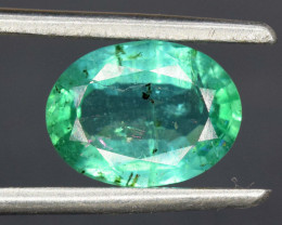 1.75 cts Oval Cut Superb Top Quality Green Color Zambia Emerald Gemstone