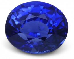 1.02 ct Blue Sapphire Oval GIA Certified Unheated, Sri Lanka
