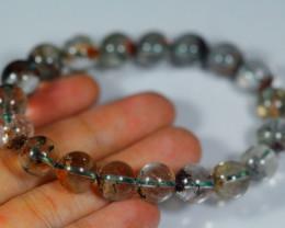 157.5Ct Natural Phantom Quartz Bracelet