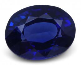 1.25 ct Blue Sapphire Oval GIA Certified Unheated, Sri Lanka