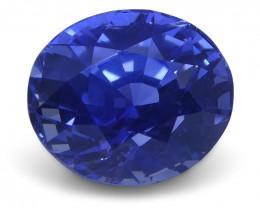 1.48 ct Blue Sapphire Oval GIA Certified Unheated, Sri Lanka