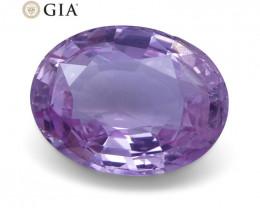 1.87 ct Pink Sapphire Oval GIA Certified Sri Lanka