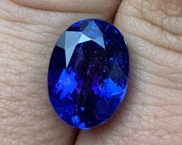 10.05 cts D Block Tanzanite - Cobalt Blue Top Color - AAAA