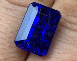 16.10 cts D Block Tanzanite - Top Color AAAA - Emerald Cut