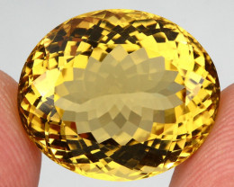 23.30 ct. 100%  Natural Earth Mined Unheated Top Yellow Golden Citrine Braz