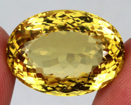 24.05 ct. 100% Natural Unheated Top Yellow Golden Citrine Brazil