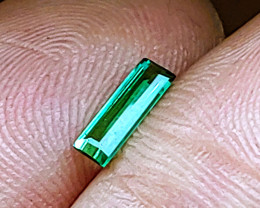 NEAR-LOUPE CLEAN! Unheated Blue-Green Tourmaline  (Paprok Mine, Afghanistan